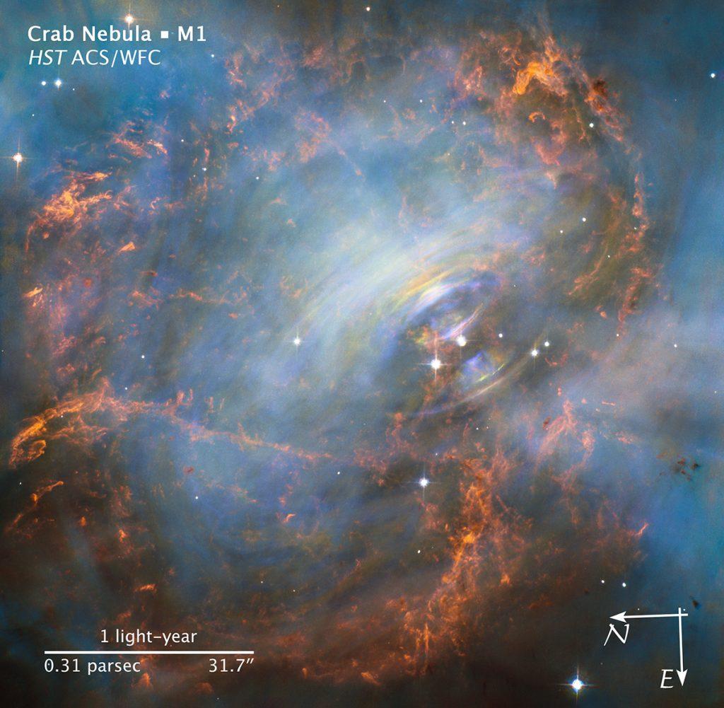 Crab Nebula Credit NASA and ESA