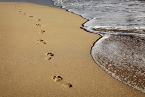 footprints in sand impermanence